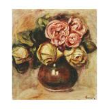 Vase of Roses Posters by Pierre-Auguste Renoir