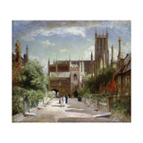 The Vicars' Close, Wells Cathedral Giclee Print by Sir David		 Murray