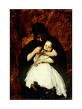 Feeding Baby Giclee Print by William Merritt		 Chase