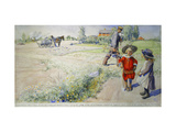 Esbjorn and the Peasant Girl Giclee Print by Carl		 Larsson
