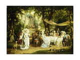 The Garden Party Reproduction procédé giclée par Karl Schweninger II