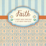 Faith Print by Andi Metz