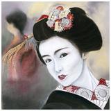 Geisha Noire Print by Béatrice Hallier