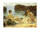 The Sun Bathers Giclée-tryk af Henry Scott Tuke