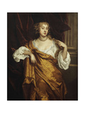 Portrait of the Hon. Mary Wharton in a White Chemise and Yellow Robe Posters by Peter		 Lely