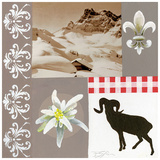 Chamois A Droite Poster by  Lizie