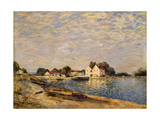 Saint-Mammes, on the Banks of the Loing Giclee Print by Alfred		 Sisley
