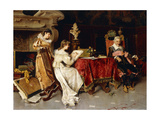 The Art Lesson Giclee Print by Adriano		 Cecchi