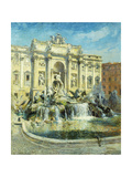 Trevi Fountain, Rome Giclee Print by Colin Campbell		 Cooper