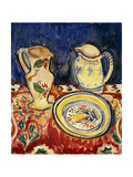 Still Life with Breton Pottery Premium Giclee Print by Alfred Henry Maurer