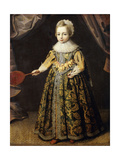 Portrait of a Boy, aged 3, in a Green Dress, Holding a Battledore and Shuttlecock Giclee Print by  English School