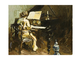 Woman at the Piano Giclee Print by George		 Oberteuffer