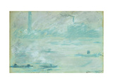 London, Boats on the Thames Poster by Claude		 Monet