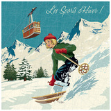 Sports D'Hiver Prints by Bruno Pozzo