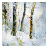 Winter in the Woods Art by Kathleen Cloutier