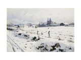 A Winter Landscape, Holmstrup Giclee Print by Peder Mork Monsted