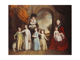 A Group Portrait of the Craven Children, full-length, before an Arch with a Landscape Beyond Posters by Thomas Beach