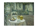 The Pink Tablecloth Print by Henri		 Le Sidaner