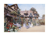 Luncheon at the Inn Poster by Francis Hopkinson Smith
