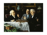 Chess Game Giclee Print by Louis Charles		 Moeller