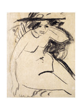 Dido with Hat Giclee Print by Ernst Ludwig Kirchner