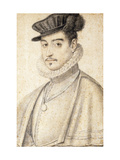 Portrait of a Man Wearing a Cap Giclee Print by (attributed to) Daniel Dumonstier