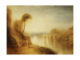 Landscape: Woman with Tamborine Prints by J. M. W. Turner