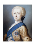Portrait of Prince Charles Edward Stuart in profile to the left Giclee Print by Carriera Rosalba