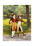 Dandies in the Park Giclee Print by Ignaz Marcel		 Gaugengigl