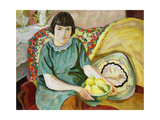 Portrait of Zoum Van den Eeckhoudt Premium Giclee Print by Roger Fry