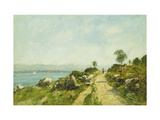 The Road, Antibes Premium Giclee Print by Eugène Boudin