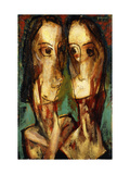 Two Heads Giclee Print by Alfred Henry		 Maurer