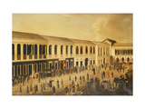 A View of the Hongs on the Waterfront at Canton Giclee Print by  Anglo-Chinese School