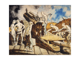 The Howitzer in Action Giclee Print by Sir William		 Orpen