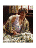Woman with back light Giclee Print by Roderic		 O'Conor
