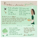 Mint-Chocochip Cupcake Print by Céline Malépart