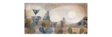 Oceanic Landscape Reproduction giclée Premium par Paul Klee