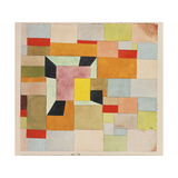 Split Coloured Rectangles Print by Paul Klee