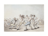 The Boxing Match Art by Thomas		 Rowlandson
