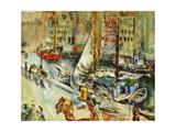 Fra Nyhavn Giclee Print by Ludvig Karsten