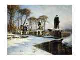 Parc de St. Cloud in the Snow Giclee Print by Paul Leon		 Frequenez