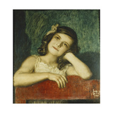 Portrait of Mary, the Artist's Daughter Print by Franz Stuck