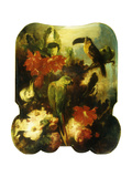 Exotic Birds and Flowers Giclee Print by Ludwig Adam		 Kunz