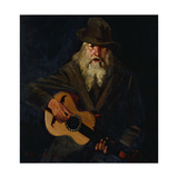 The Hobo Musician Art by George Benjamin		 Luks