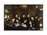 A Group Portrait of Teachers and School Children in a Classroom Giclee Print by Francois		 Trichot-Garnerie