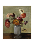 Flowers in a Vase Giclee Print by Theo Rysselberghe
