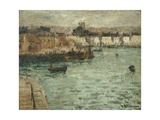 In Front of the Port of Dieppe Posters by Gustave		 Loiseau