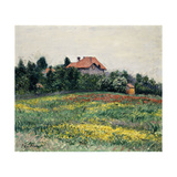 Normandy Countryside Giclee Print by Gustave		 Caillebotte