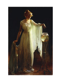 Le poisson rouge Poster par Charles Courtney		 Curran