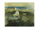 On the Beach Giclee Print by Walter Frederick		 Osborne